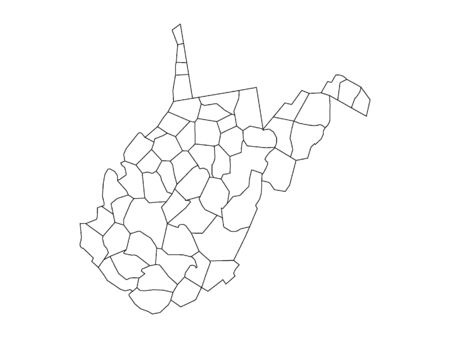 West Virginia County Map Иллюстрация