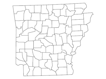 Arkansas County Map