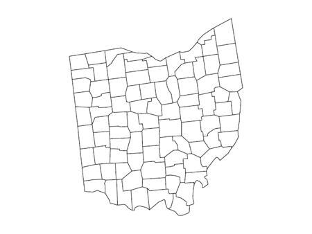 Ohio County Map Иллюстрация