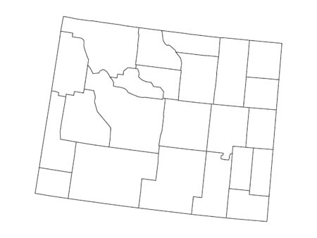 Wyoming County Map 向量圖像
