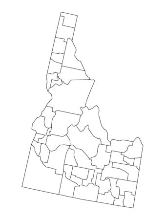 Idaho County Map