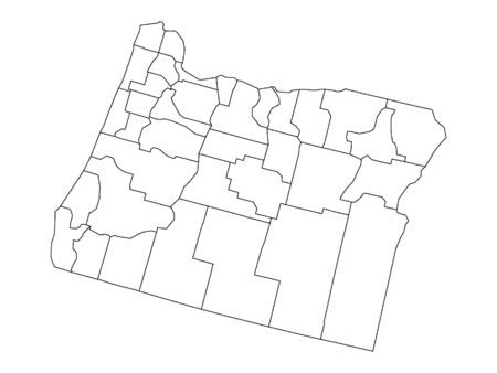 Oregon County Map Иллюстрация
