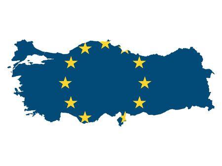 European Union Map of Turkey Stock Illustratie
