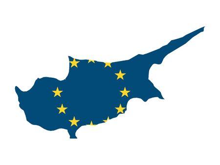 European Union Map of Cyprus 向量圖像