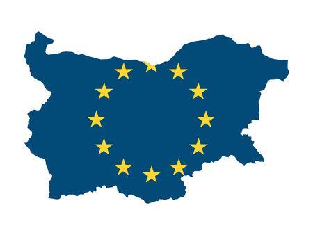 European Union Map of Bulgaria
