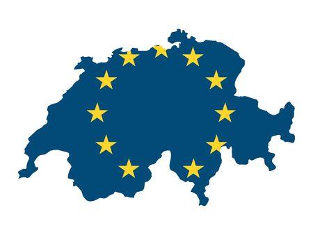 European Union Map of Switzerland Stock Illustratie