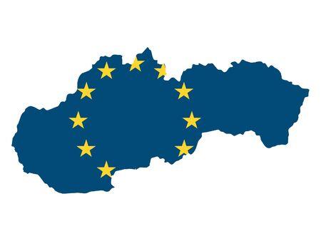 European Union Map of Slovakia 일러스트