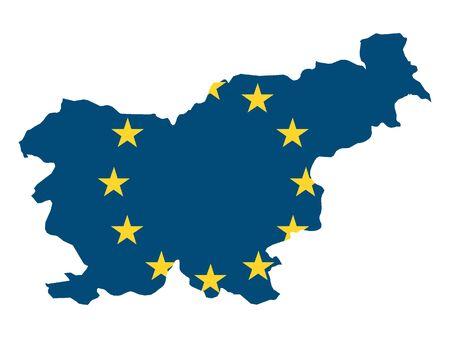 European Union Map of Slovenia