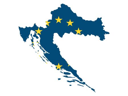 European Union Map of Croatia
