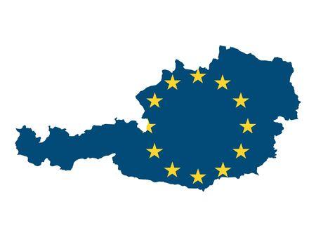 European Union Map of Austria Stock Illustratie