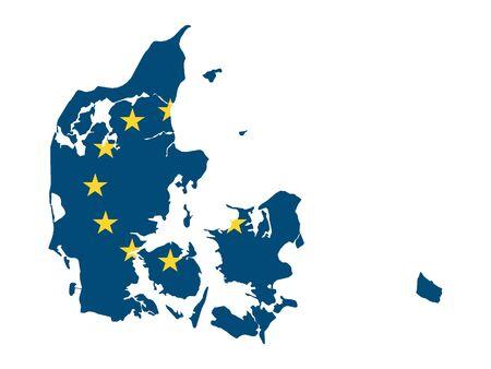 European Union Map of Denmark