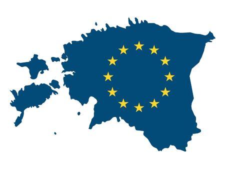 European Union Map of Estonia Illusztráció