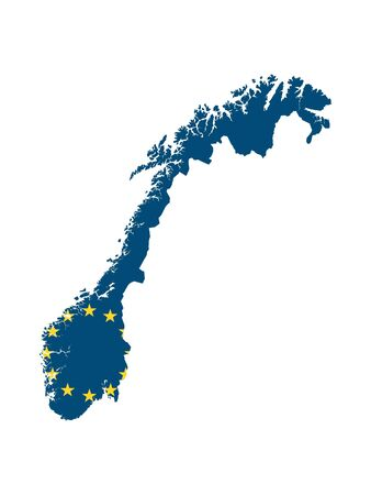 European Union Map of Norway Çizim