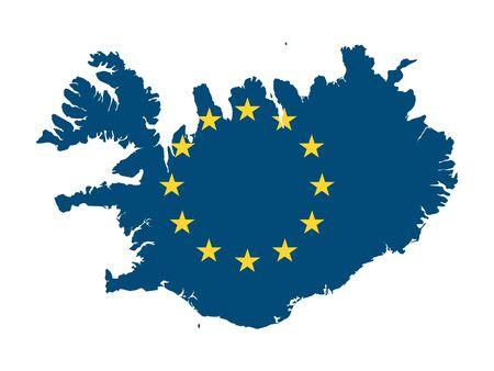 European Union Map of Iceland Çizim