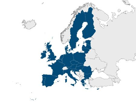 Map of European Union Country Members