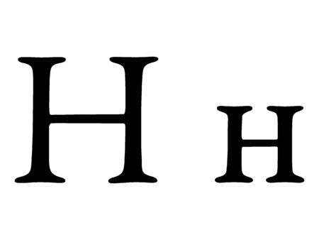 Russian Cyrillic Alphabet Letter N