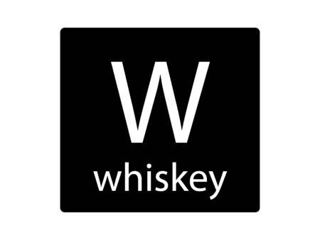 Army Phonetic Alphabet Letter Whiskey