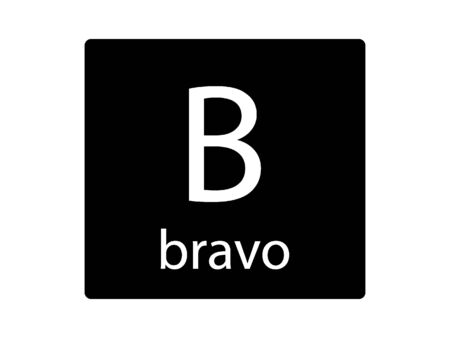 Army Phonetic Alphabet Letter Bravo