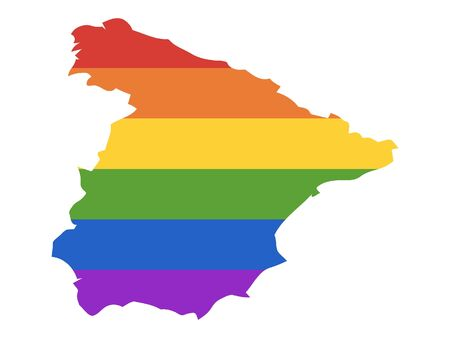 Rainbow Gay Map of Spain