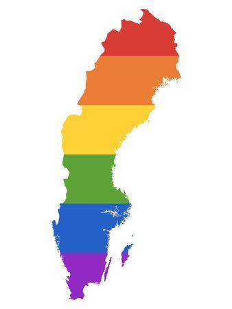 Rainbow Gay Map of Sweden