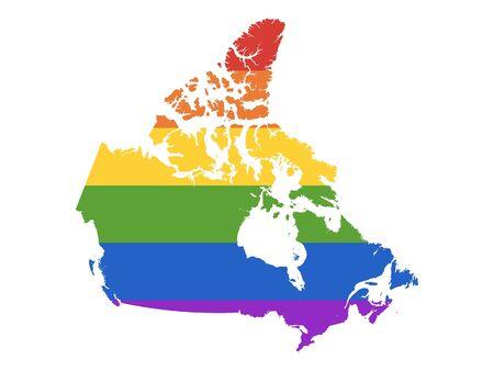 Rainbow Gay Map of Canada