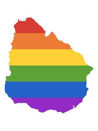 Rainbow Gay Map of Uruguay