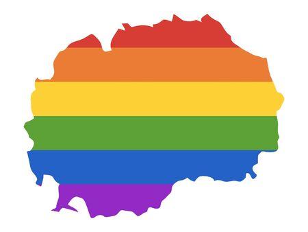 Rainbow LGBT Map of North Macedonia