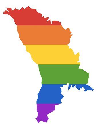 Rainbow LGBT Map of Moldova