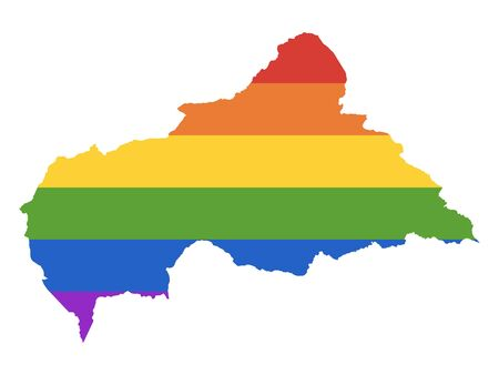 Rainbow LGBT Pride Map of Central African Republic