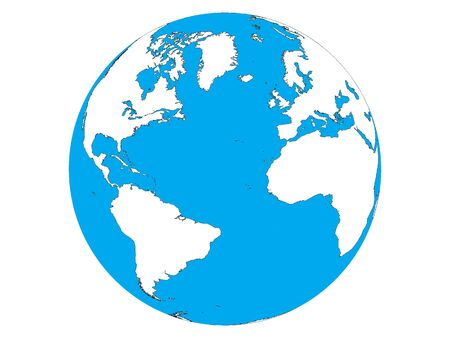 Picture of the Globe (Americas, Africa, Europe)