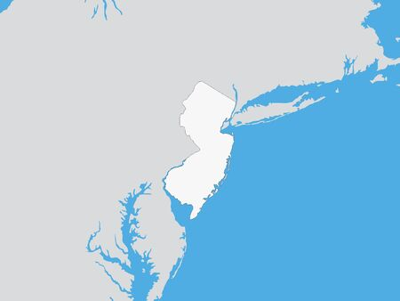 Map of the US Federal State of New Jersey