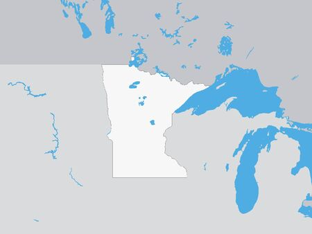 Map of the US Federal State of Minnesota