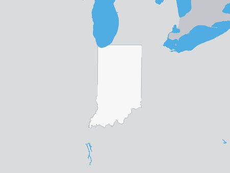 Map of the US Federal State of Indiana
