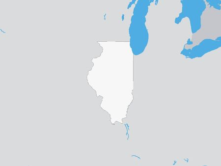 Map of the US Federal State of Illinois