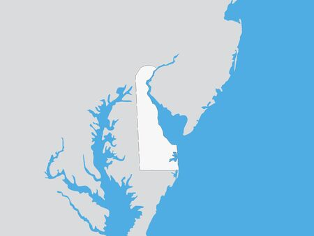 Map of the US Federal State of Delaware
