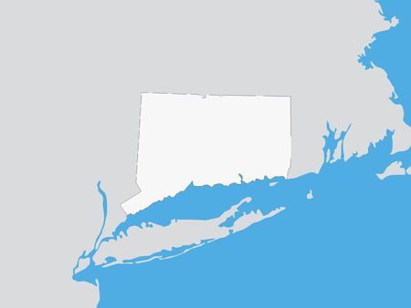Map of the US Federal State of Connecticut
