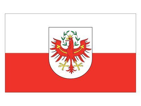 Flag of the Austrian State of Tyrol Stock Illustratie