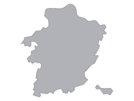 Gray Map of Belgian Province of Limburg Иллюстрация