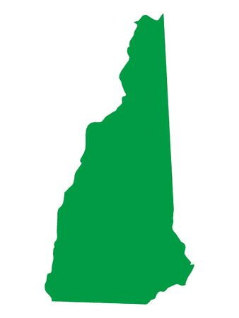 Green Map of USA Federal State of New Hampshire  イラスト・ベクター素材