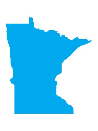 Blue Map of USA Federal State of Minnesota 向量圖像