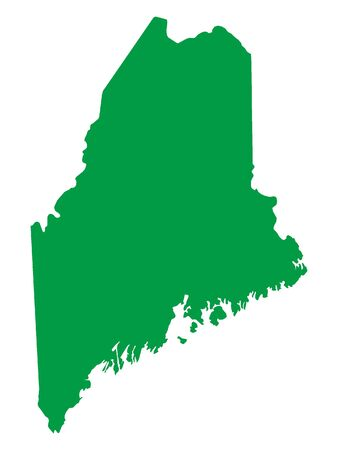 Green Map of USA Federal State of Maine