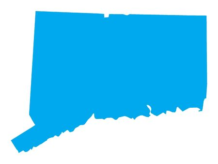 Blue Map of USA Federal State of Connecticut 向量圖像