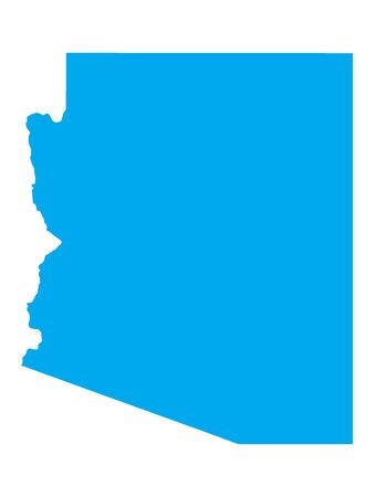 Blue Map of USA Federal State of Arizona