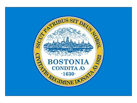 Flag of USA City of Boston, Massachusetts