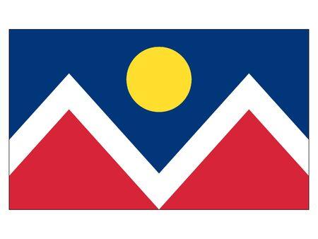 Flag of USA City of Denver, Colorado 向量圖像