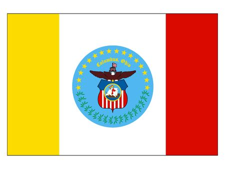 Flag of USA City of Columbus, Ohio