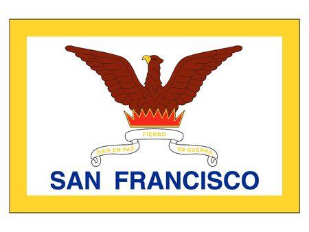 Flag of USA City of San Francisco, California