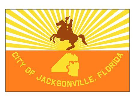 Flag of USA City of Jacksonville, Florida Stock Vector - 133010386