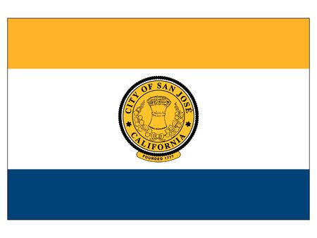 Flag of USA City of San Jose, California 向量圖像
