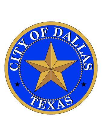 Seal of USA City of Dallas, Texas 向量圖像